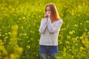 Inhalieren bei Allergie und Heuschnupfen
