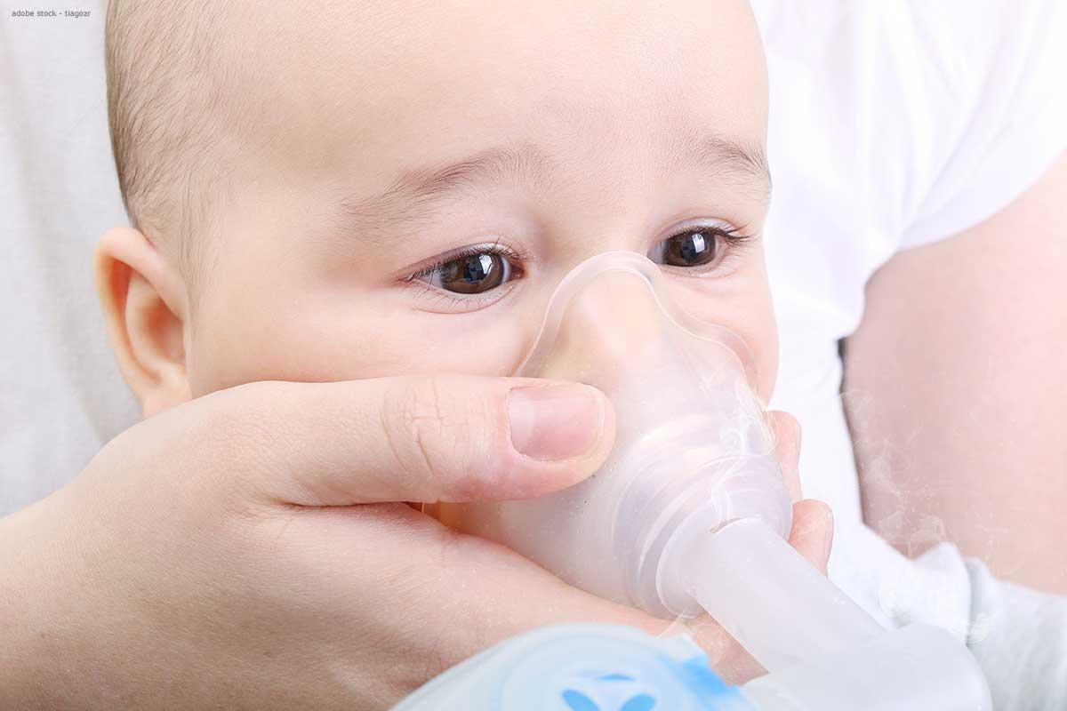 Inhalieren bei Baby - Inhalator mit Babymaske
