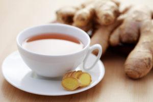 Ingwer-Tee um Erkältung schnell zu überstehen