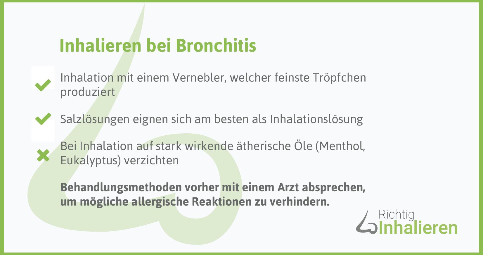 Richtig inhalieren bei Bronchitis