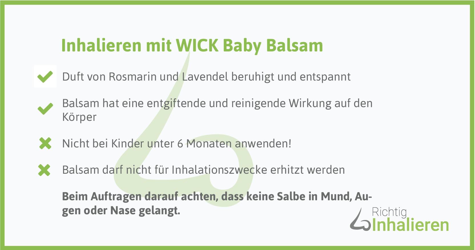 Richtig inhalieren mit Wick Baby Balsam